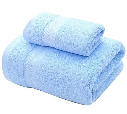 Conjunto de Toallas Suaves de Color sólido Conjunto de Toallas de baño Individuales de Dos (