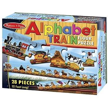 Amazon Com Alphabet Train 28 Piece Floor Puzzle Free