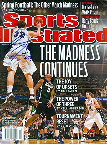 Jimmer Fredette autographed Sports Illustrated Magazine (BYU) March Madness - Autographed College Magazines Autograph Warehouse