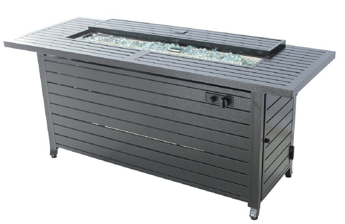 Legacy Heating vc-CDFP-S-CB Gas Aluminum Fire Table, 56.7'' x 21.3'' x 24'', Black by LEGACY HEATING