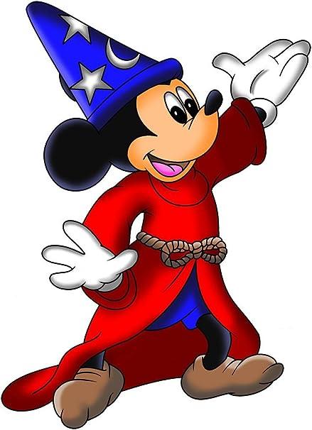 Mickey Mouse Wizard Fantasia Disney Decal Wall Sticker Home Decor Art C868,  Regular