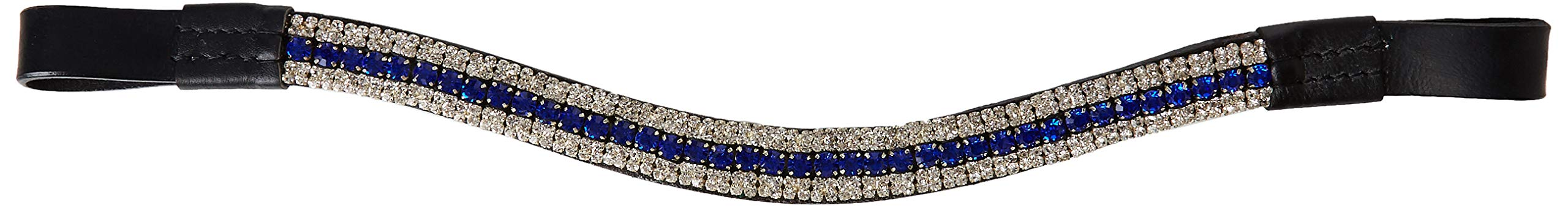CWELL EQUINE Look U Topaz Coloured Crystal Browband Great Giftoffer Black (Full 16'')