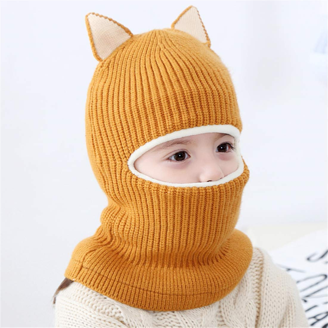 Rgslon Baby Girls Warm Hat Scarf Kid Fleece Lined Earflap Caps Windproof Balacalva