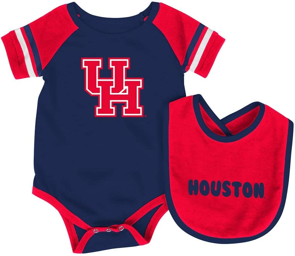 Infant NCAA Houston Cougars Roll-out Bodysuit and Bib Set
