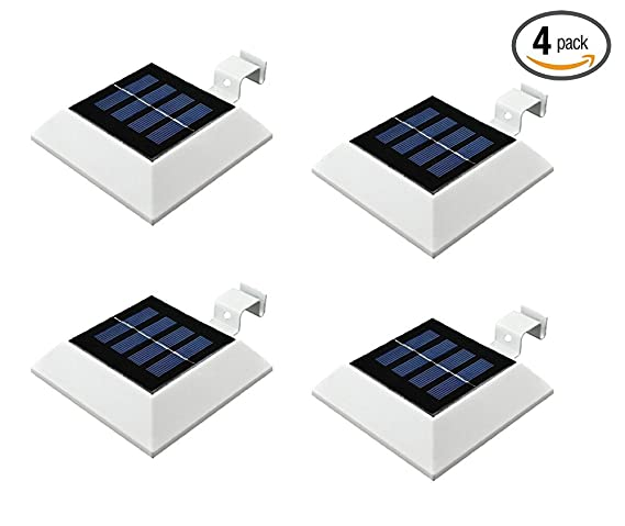4 Packhkyh Solar Powered Waterproof Security Lamp 4 Led Solar