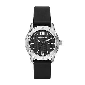 Amazon.com: Skechers Womens Redondo Quartz Metal and Silicone Casual Watch Color: Silver, Black (Model: SR6049): Watches