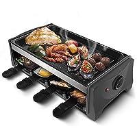 Teppanyakigrill silber XXL Hot Plate Balkon ✔ eckig ✔ Grillen mit Elektrogrill Infrarot ✔ für den Tisch