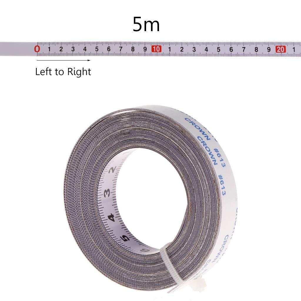 Mentin Ruban de mesure auto-adhésif de gauche à droite, droite à gauche, Au milieu des deux côtés 1/2/3 / 5M (1M, Au milieu des deux côtés) droite à gauche Au milieu des deux côtés 1/2/3 / 5M (1M