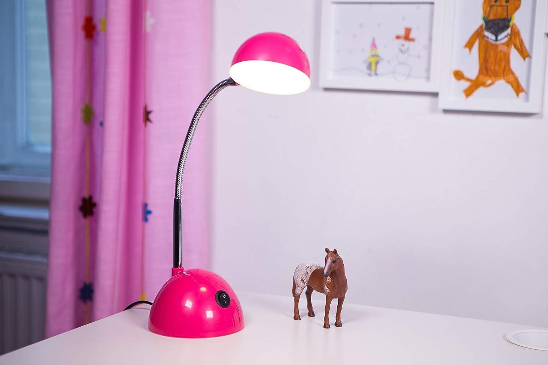 l/ámpara de escritorio azul amigable para los ni/ños con cabeza giratoria y 350 l/úmenes de LED que aportan suficiente intensidad de luz al escritorio Emma es una l/ámpara de mesa