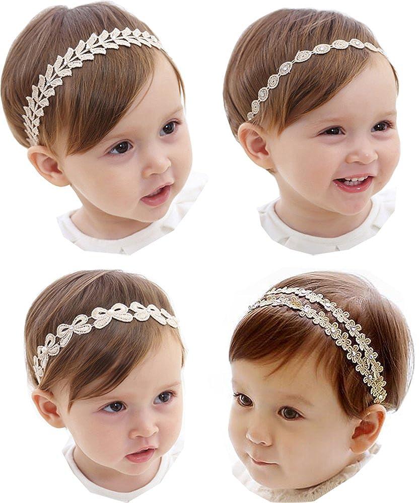 Hocaies Bébé Bandeau Cheveux Enfant Uni de Nœud Turban Elastique, cheveux Accessoires Photographie