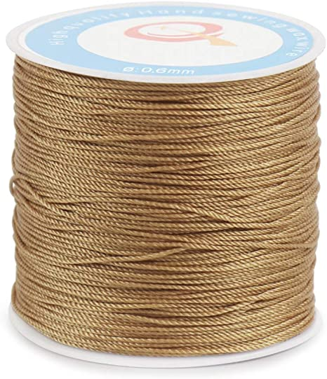 10m of black waxed cotton cord 0.6mm diameter for jewellery and other crafts