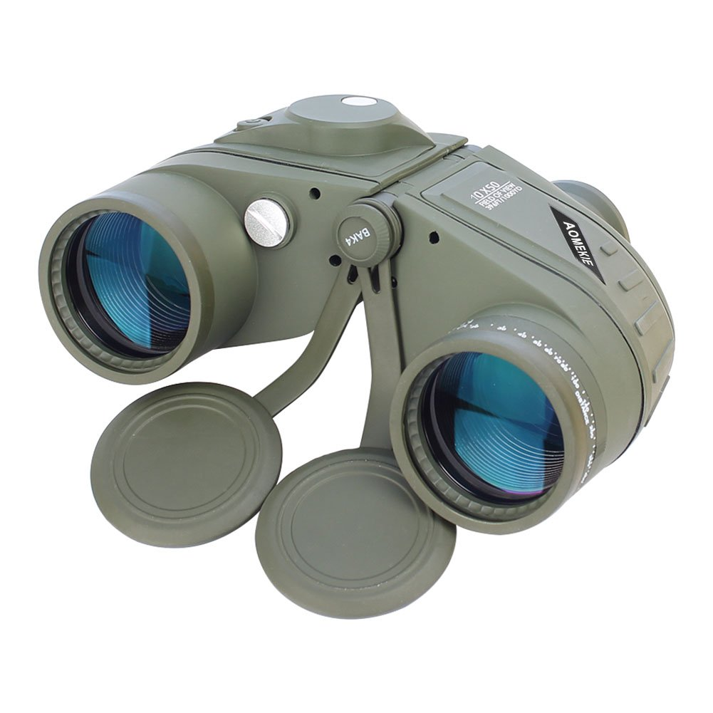 Aomekie Top Grade Army Green Military 7x50 HD Zoom Marine Binoculars BAK4 Wide View Bearing Compass Rangefinder Telescope Waterproof B01G2VGT3W 10X MAGNIFICATION 10X MAGNIFICATION
