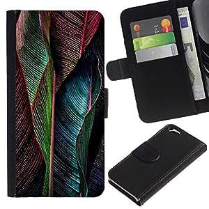 EJOY---La carpeta del tirón la caja de cuero de alta calidad de la PU Caso protector / Apple Iphone 6 / --Pluma vibrante del trullo Verde