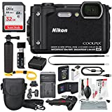 Nikon COOLPIX W300 Digital Camera (Black) w/WiFi and Deluxe Adventure Bundle with 32GB + Case + Floating Grip +Battery + Xpix Cleaning Kit + More