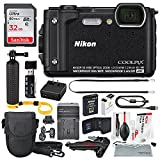 Nikon COOLPIX W300 Digital Camera (Black) w/ WiFi and Deluxe Adventure Bundle with 32GB + Case + Floating Grip +Battery + Xpix Cleaning Kit + More