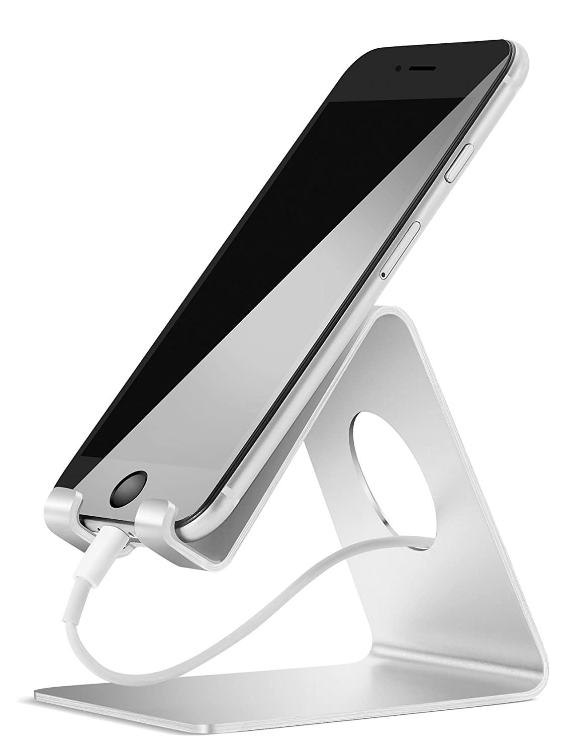 Supporto Telefono, Lamicall Dock iPhone : Universale Supporto Dock per iPhone 7 6 6s plus 4 4s 5 5s se, Nintendo Switch, HUAWEI, Samsung Note 4, Note 5, Note 6, S3 S4 S5 S6 S7 S8, Accessori, Scrivania, Altri Smartphone - Argento