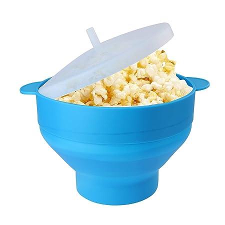 Much - Cuenco de silicona para hacer palomitas de maíz, sin BPA ...