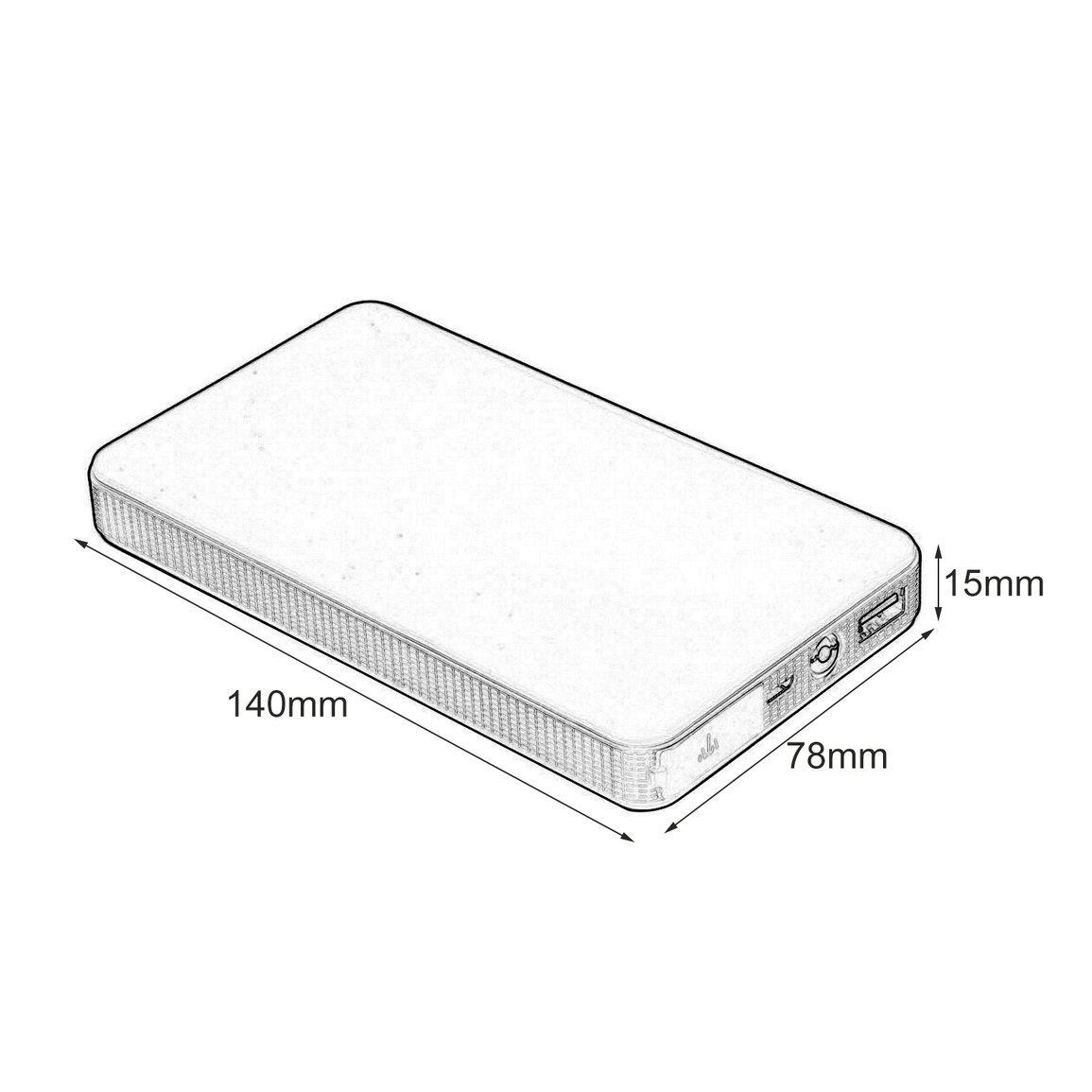 Fantasyworld 12V 20000mAh Mini Portable Multifonction Voiture Jump Starter Power Booster Chargeur de Batterie Chargeur de d/émarrage durgence