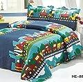 Brandream Kids Bedding Set Boys Train Vehicle Thin Comforter Set,twin,queen