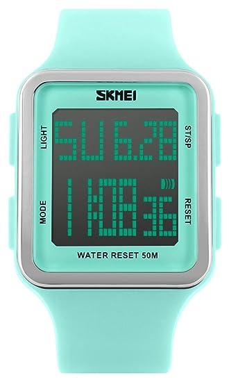 Amazon.com: Reloj digital deportivo resistente al agua al ...
