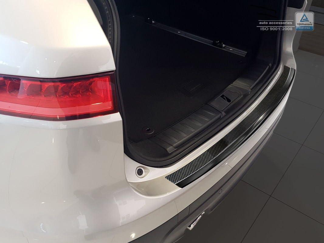 ZIC Motorsports Carbon Fiber /& Graphite Stainless Steel Rear Bumper Protector Guard fits 2017-2019 Jaguar F-Pace