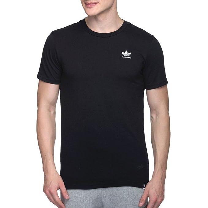 adidas Originals - Camiseta Deportiva - Liso - Redondo - para Hombre Negro L: Amazon.es: Ropa y accesorios