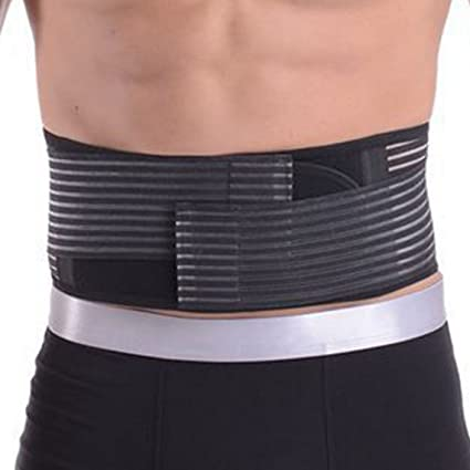 605ca2066e Men   Women Adjustable Waist Trimmer Belt Stomach Body Wrap Protecting Warm  Stretchy Waistband Belly Fat