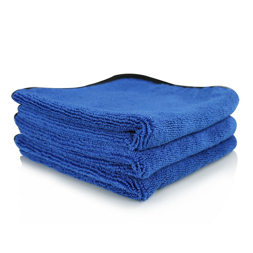 Chemical Guys MIC_1100_03 Monster Extreme Thickness Microfiber Towel, Blue(16 in. x 16 in.) (Pack of 3)