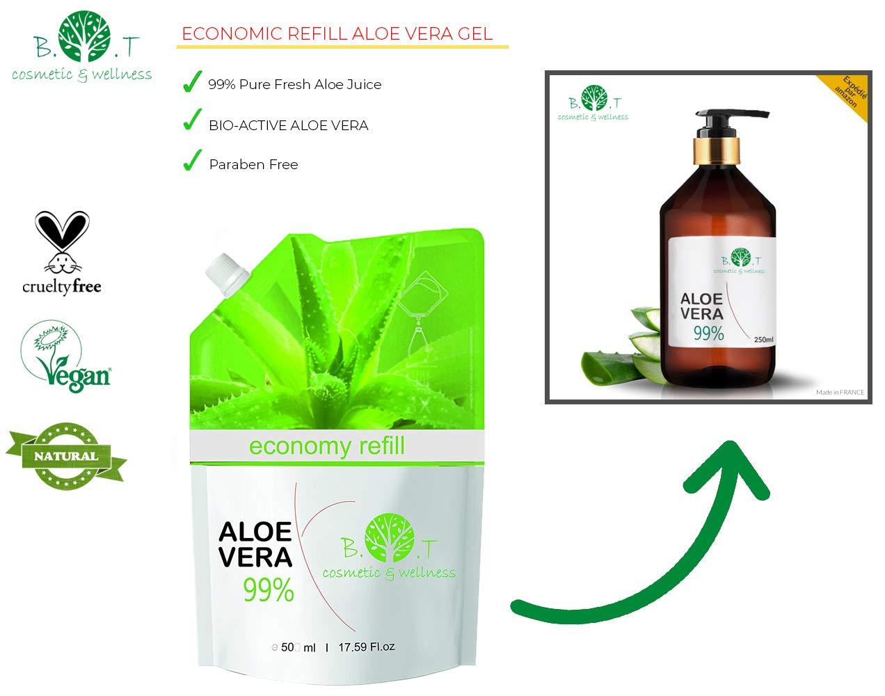 Recarga Ahorro 99% Gel Puro de Aloe Vera 500 ml - recarga económica