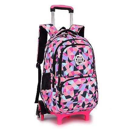 55761d18e3b8 Amazon.com: C-Xka Waterproof Trolley Rolling Backpack Luggage School ...