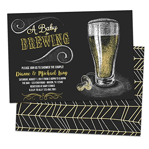 Baby is Brewing Shower Invitations Beer Couples Shower Invite (Couples Baby Shower Invitation)