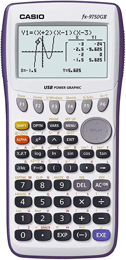 Genuine CASIO FX-9860G 2 II Programmable Graphing Scientific Calculator w// Case