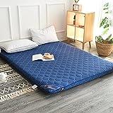 hxxxy Tatami floor mat,Floor mat Futon mattress topper Traditional japanese futon Queen size Single size Dorm-Blue 90x200cm(35x79inch)