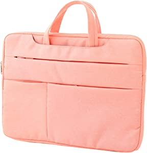 Gloriest 15.6 Inch Laptop Sleeve Slim Shockproof Carrying case Computer Bag Protective Notebook Skin Cover Business Travel Bags with Accessory Pocket,Pink