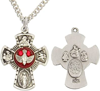 Small LOVE Cross .925 Solid Sterling Silver Traditional Charm MADE IN USA