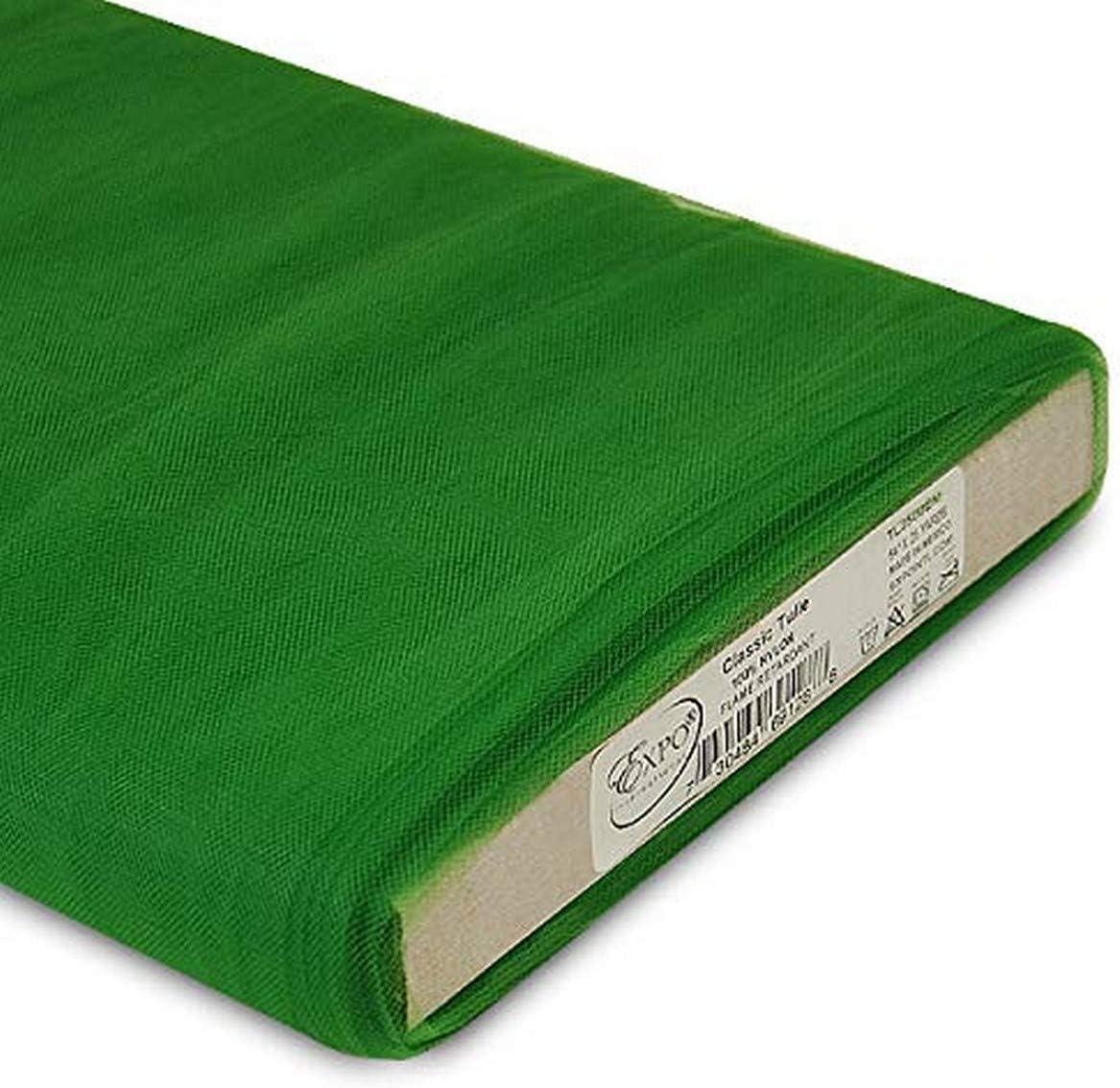 Expo International 54-Inch Classic Nylon Tulle Bolt Fabric Spool, 25-Yard, Emerald