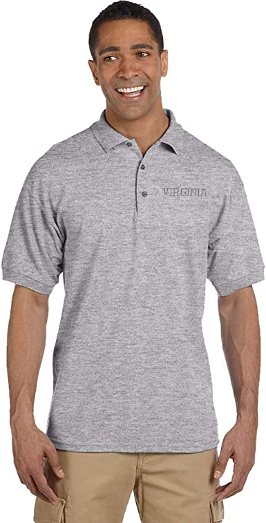 Custom Polo Shirts for Men Virginia State USA America Embroidery Cotton