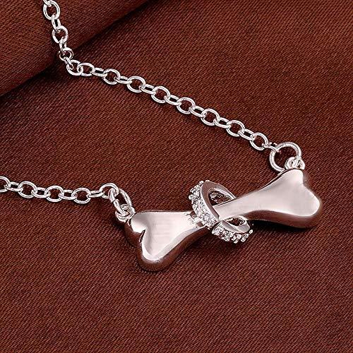 Fashion Dog Bone 18inch Necklace Chain Pendant Jewelry Exquisite Puppy Pet ()