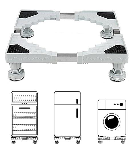 Miyare base regolabile per frigorifero lavatrice Stent durevole carico  pesante 300 kg prevenire graffi ammaccature riduzione del rumore effetto ...