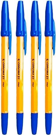 Corvina Vintage - Pack 4 boligrafos, color azul: Amazon.es ...