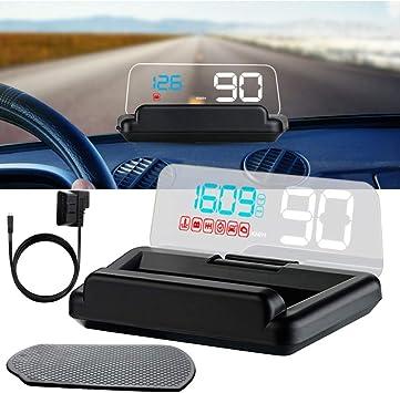 Dongmao Head Up Display Hud C500 5 Zoll Hd Projektor Head Up Display Digitaler Tachometer Obd2 Windshield Head Up Display Auto