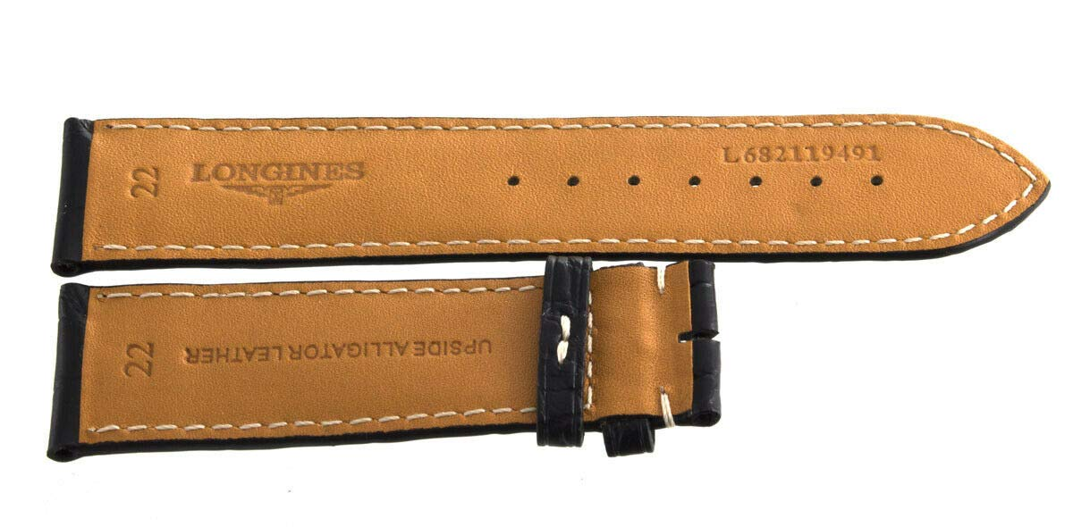 Genuine Longines 22mm x 20mm Black Alligator Leather Watch Band Strap L682119491 by Genuine Longines (Image #3)