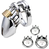 """ALL 3 RINGS ARE INCLUDED! 1.5"""" / 1.75"""" / 2"""" Chromed Plated Metal Cock Cages Toys"""