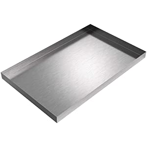 "24"" x 15"" x 1.5 Stainless Steel Ice Maker Pan"