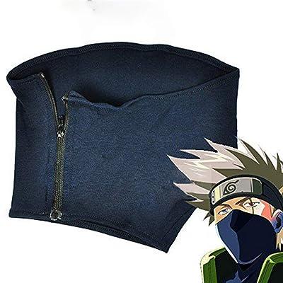 Leaf Village Headband Kunai Plastic Toy Cosplay Accessories Black Kakashi Headband Mask Naturo (Blue): Clothing