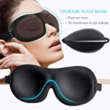 Sleep Mask (2 Pack), Upgraded Deeper 3D Contoured