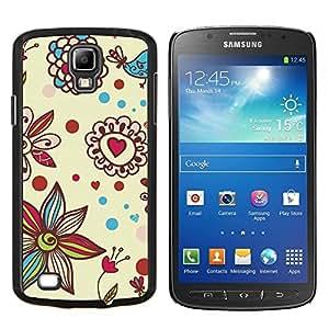 GIFT CHOICE / Teléfono Estuche protector Duro Cáscara Funda Cubierta Caso / Hard Case for Samsung Galaxy S4 Active i9295 // Petal Bloom Hearts Valentines //