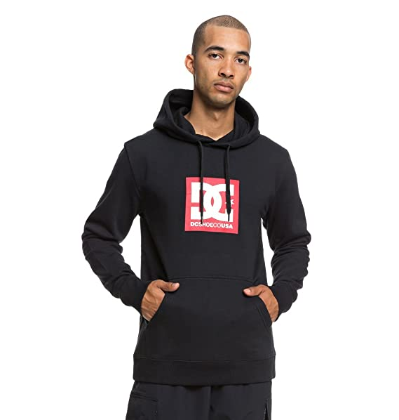 cf7b1a94364b DC Shoes Square Star - Hoodie for Men EDYSF03167  DC Shoes  Amazon.co.uk   Clothing