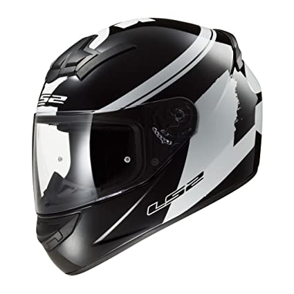 e9689ed1 LS2 Helmet - FF350-L Bulky (Matt Black and White, L): Amazon.in: Car ...