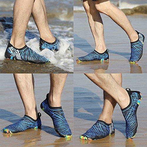 LK Quick Yoga for Socks Surf Bluefh Mens Kids Shoes Barefoot Aqua Shoes Pool Womens Dry Skin Swim Water Shoes LEKUNI Beach Aerobics vqHwrv